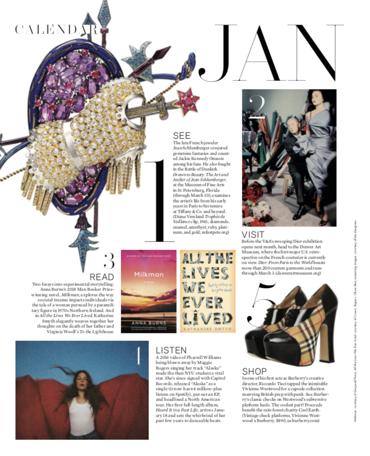All the Lives We Ever Lived  in the January 2019 issue of  Elle