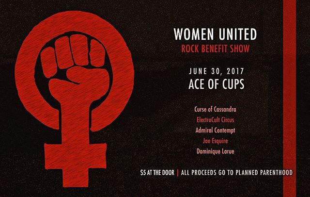 We'll be playing with some talented people tonight to raise money for Planned Parenthood. Take a stand. Do Something. #notmypresident #womensrightsarehumanrights