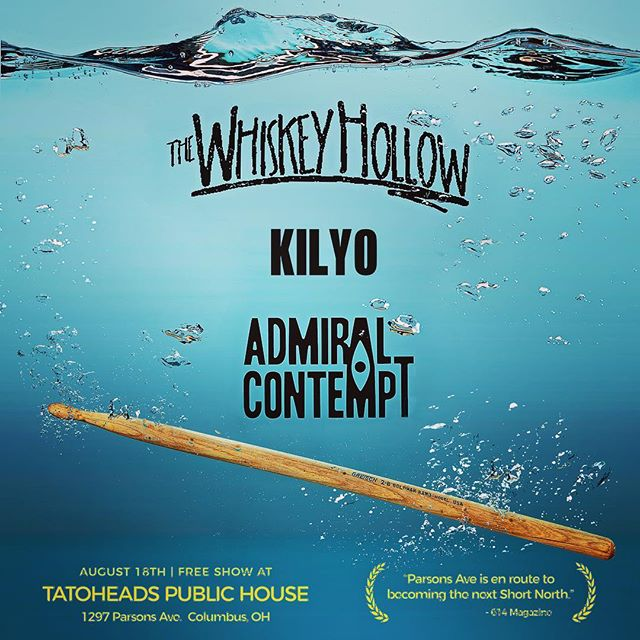 Our last show of the Summer is tomorrow night! Come celebrate with us, @kilyo_ and @the_whiskey_hollow at @tatoheads Public House! #rocklocal #supportlocalmusic #columbusohio #columbusevents #columbuscreates