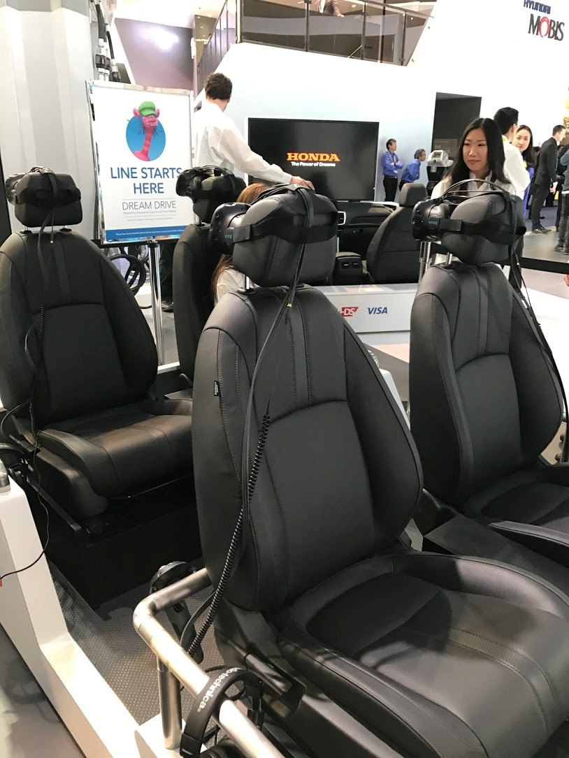 Take a seat! Honda's Dream Drive puts you in the seat of a Honda Pilot. They showcased their new in-car solutions using virtual reality!