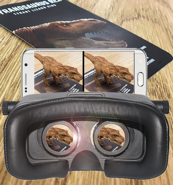 Pair your cards with a VR KIX headset for an up close experience.