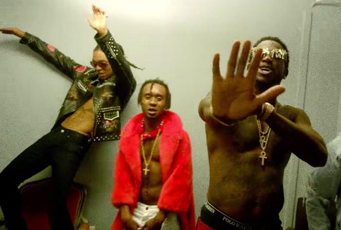 Swae Lee and Slim Jxmmi of Rae Sremmud and Gucci Mane from the Black Beatles video. IMAGE SOURCE: RAP-UP