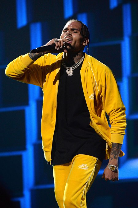 Chris Brown performs onstage during TIDAL X: Brooklyn at Barclays Center of Brooklyn on October 17, 2017 in New York City. (Photo by Kevin Mazur/Getty Images for TIDAL)