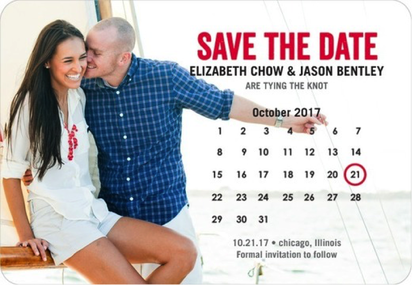 Do you have friends and family members that are very forgetful? Well the magnetic save-the-dates for refrigerators and other places have sure been a hit across the wedding world. Your guests will be sure to post this in a place where they are constantly reminded of your special day.