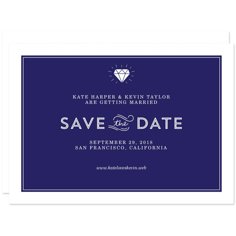 If you and your fiancé are camera shy or too busy for save-the-date photos then you can always take the traditional route and send a save-the-date with the most pertinent information of your special day. Sometimes less is more!
