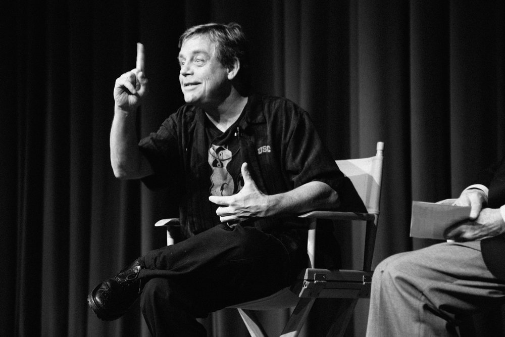 World Famous Star Wars movie star Mark Hamill during a Q&A Discussion at Paramount Pictures Studios.
