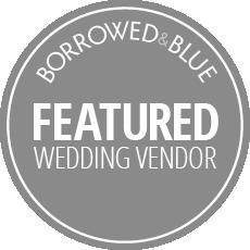 Borrowed & Blue Featured Wedding Vendor Badge