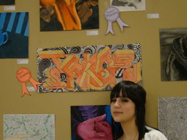 Best Drawing SEHS Art Show (Also, that ONE time I had bangs!)