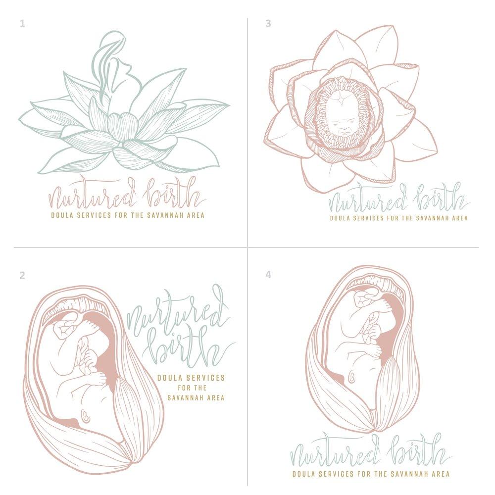 Nurtured Birth Logo Drafts