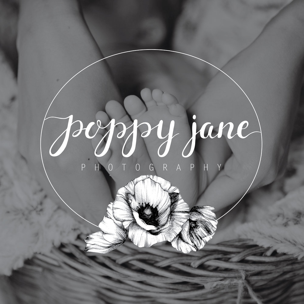 Poppy Jane Photography | Brand Logo | One Nine Design Co