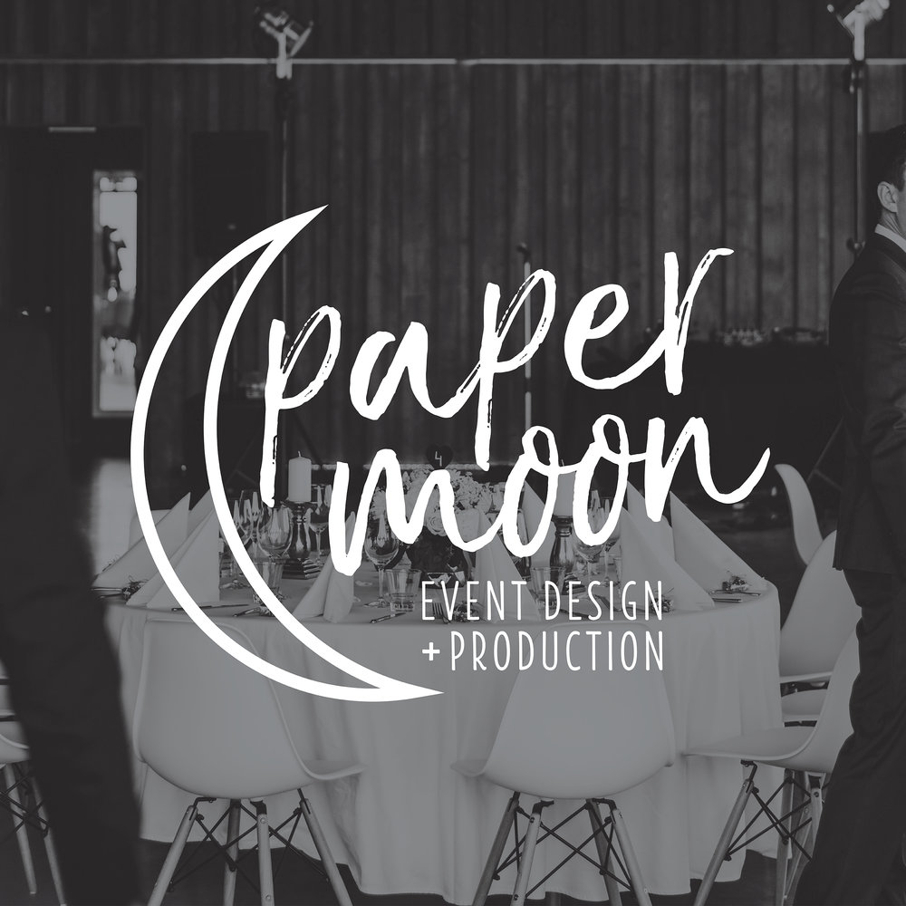 Paper Moon Event Design + Production | Brand Logo | One Nine Design Co