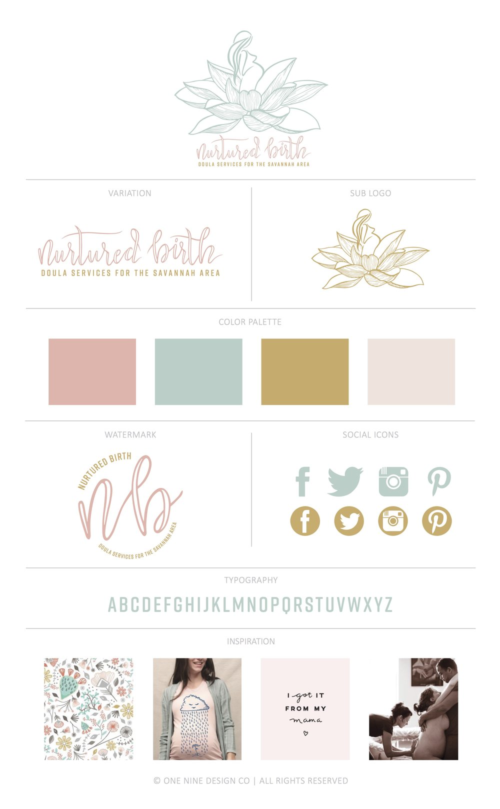 Nurtured Birth Brand | One Nine Design Co