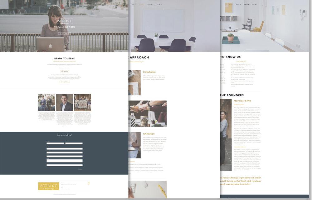 Patriot Advantage Web Design | One Nine Design Co
