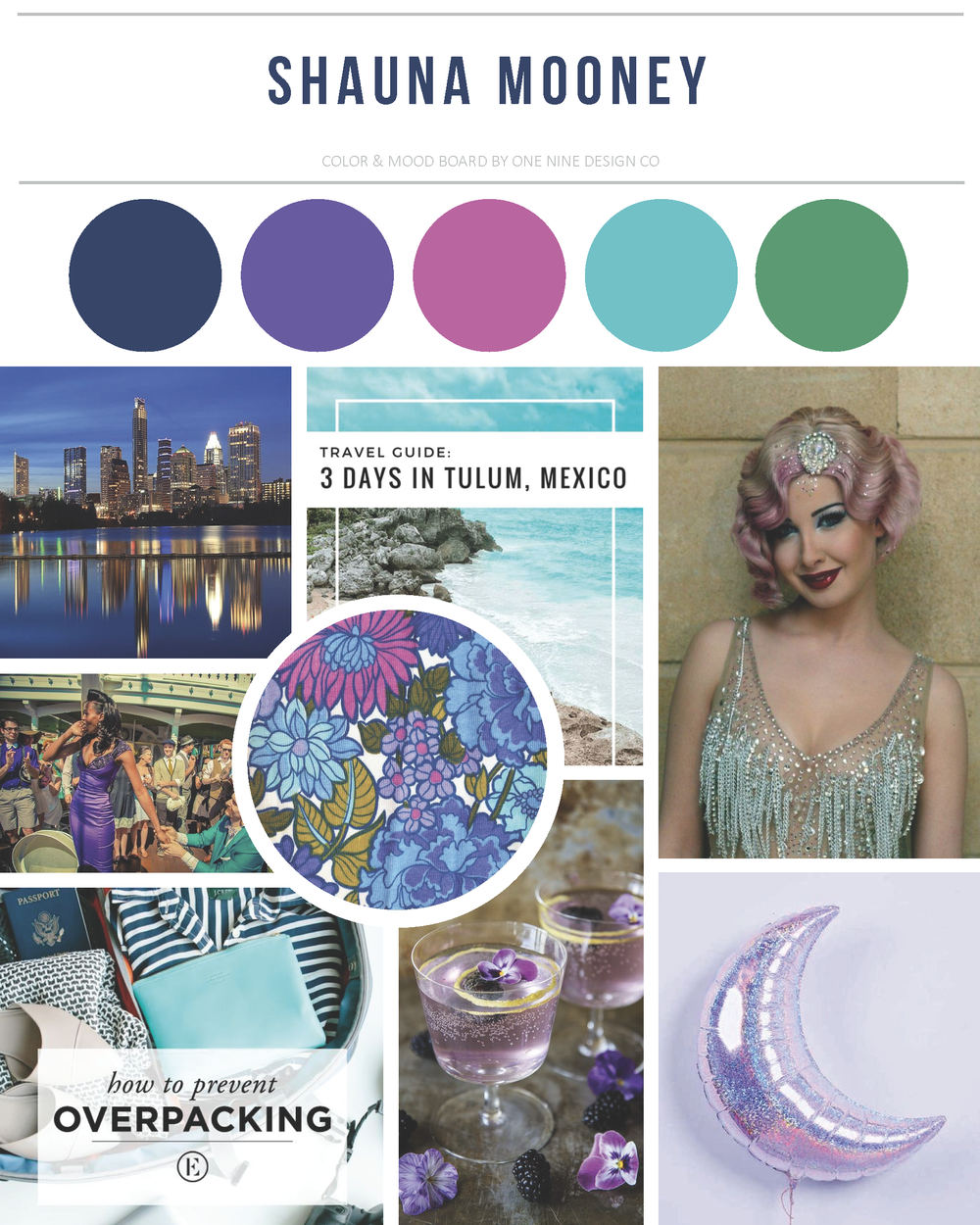 Shauna Mooney Mood Board | One Nine Design Co