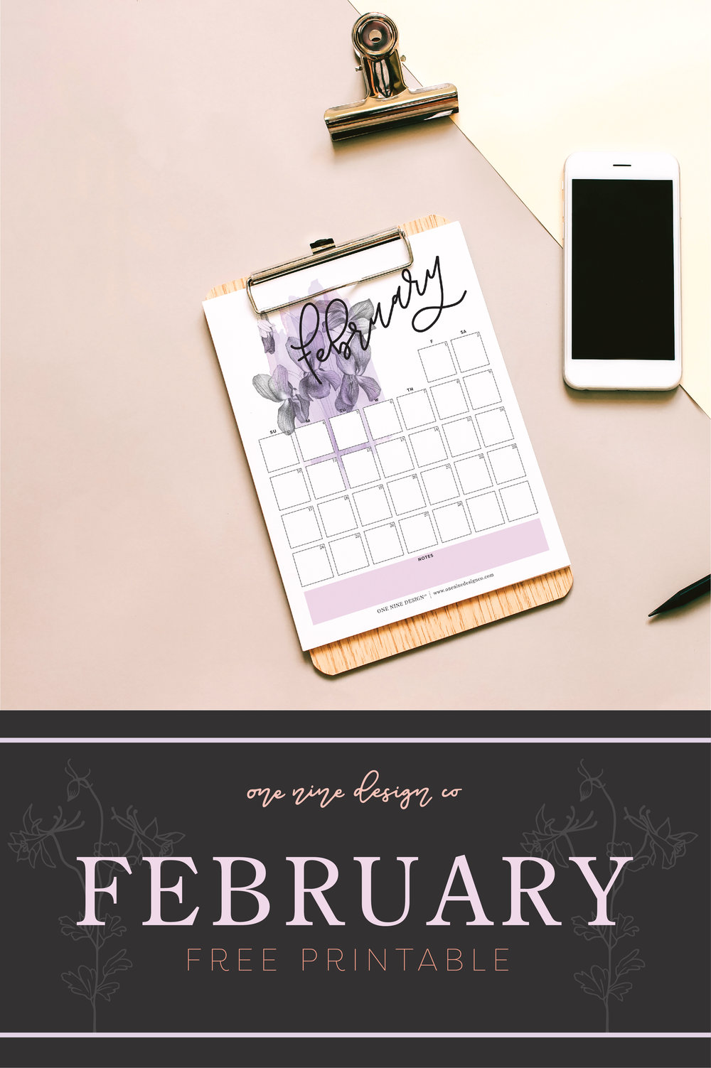 February 2019 Calendar | One Nine Design Co