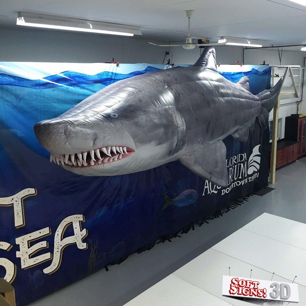 Florida Aquarium Shark Air Sculpture