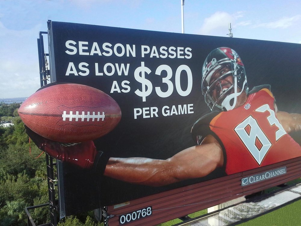 Soft Signs 3D Buccaneers Football