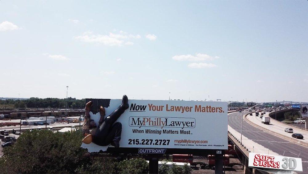 Falling Man 3D Billboard by Soft Signs 3D