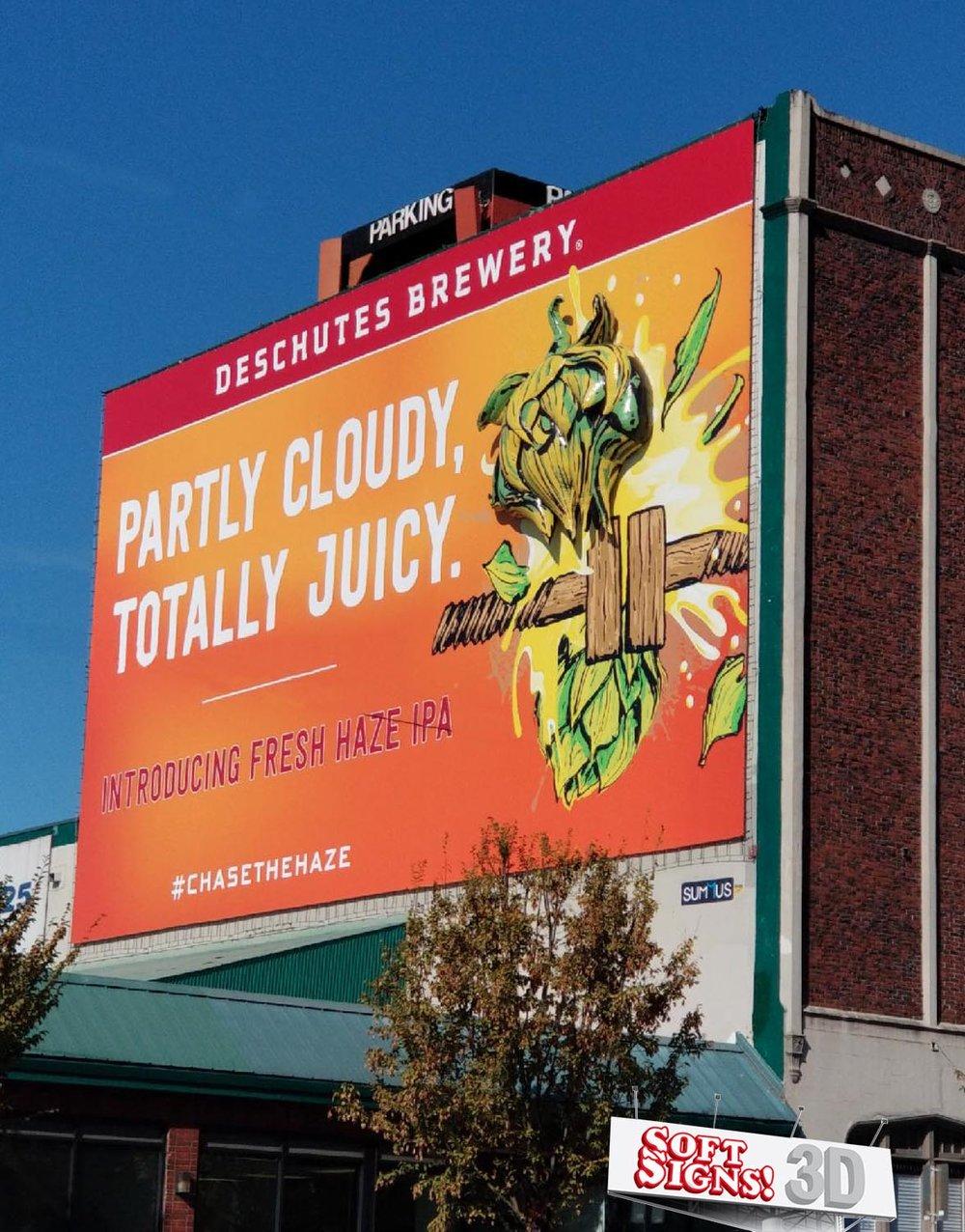 Deschutes Brewery Hops 3D Billboard by Soft Signs 3D