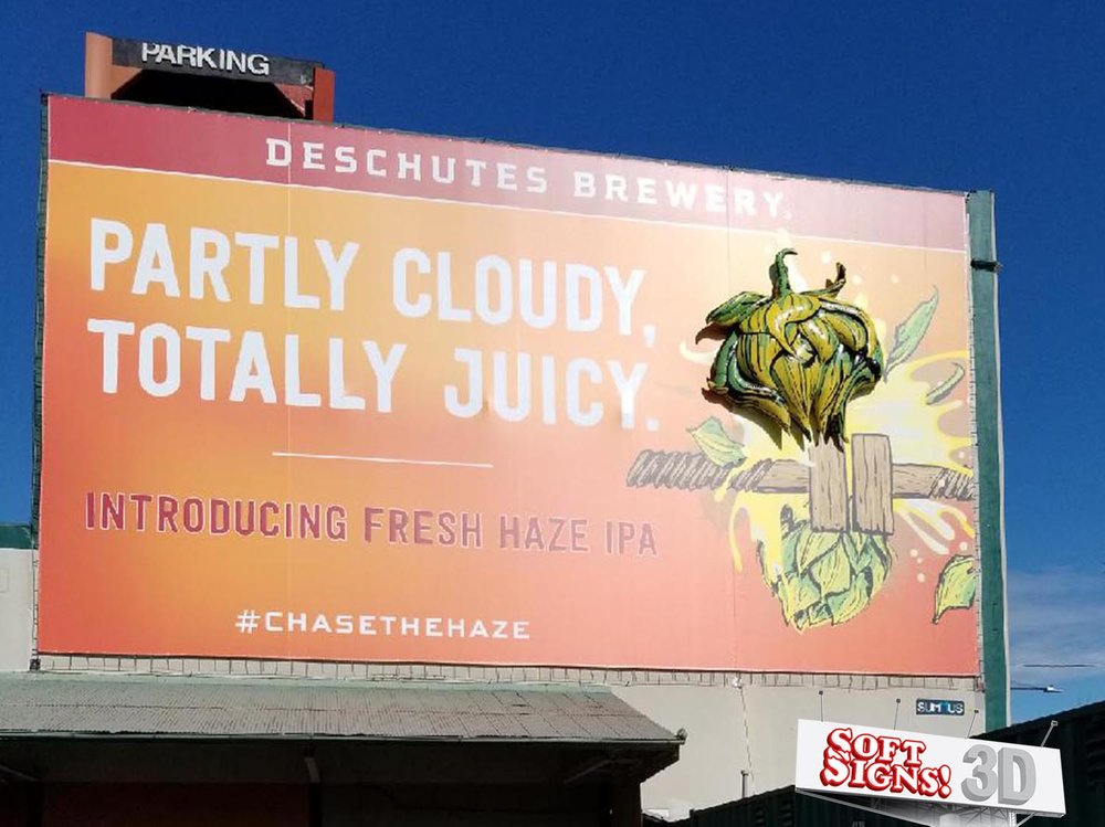 Deschutes Brewery Hops 3D Billboard by Soft Signs 3D