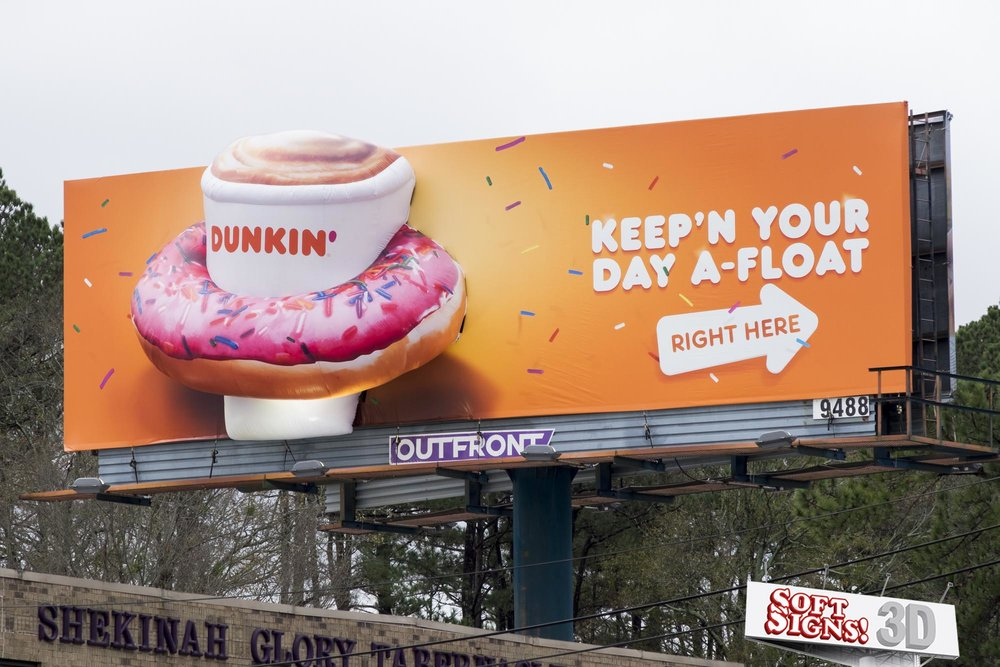 Dunkin' Donuts 3D Billboard by Soft Signs 3D