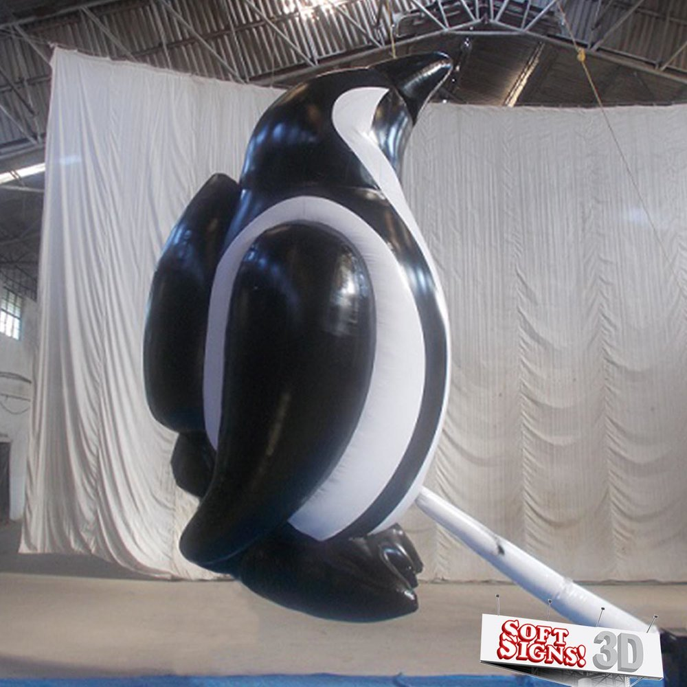 House of Air 3D Penguin Air Sculpture