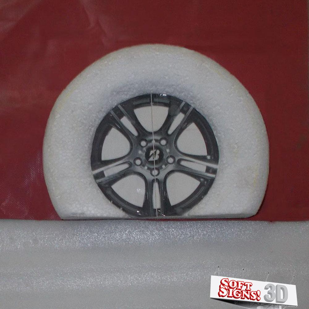 Bridgestone Tire 3D Sculpture Process