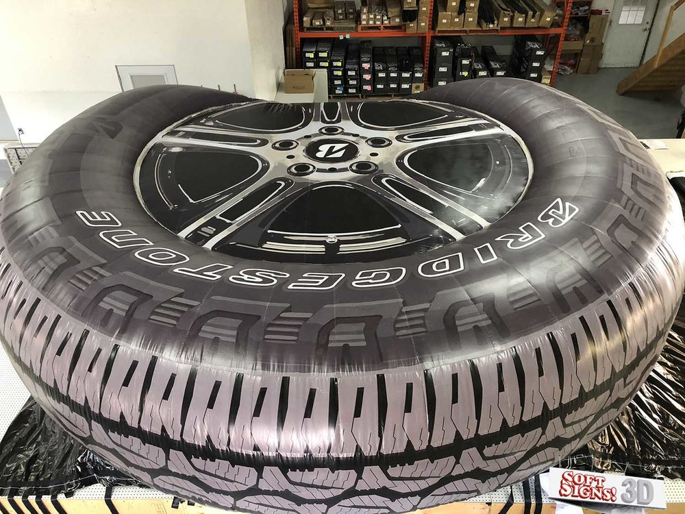 Bridgestone Tire 3D Billboard install process