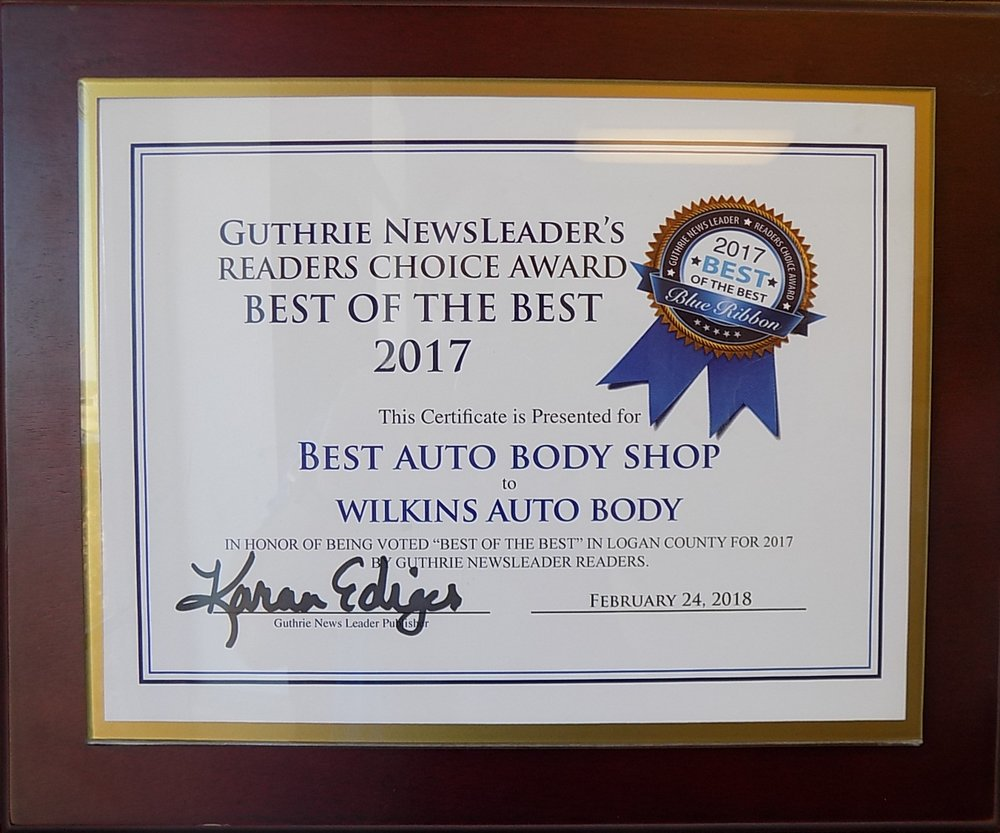 "Thank you, Guthrie, for once again voting us  ""Best Auto Body Shop""!"