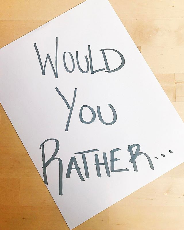 Heya folks! We are playing a round of 'Would You Rather' in or next episode and would love if you shared/suggested your favorite impossible scenarios for Jacey and I to choose between! Ready...set...go!