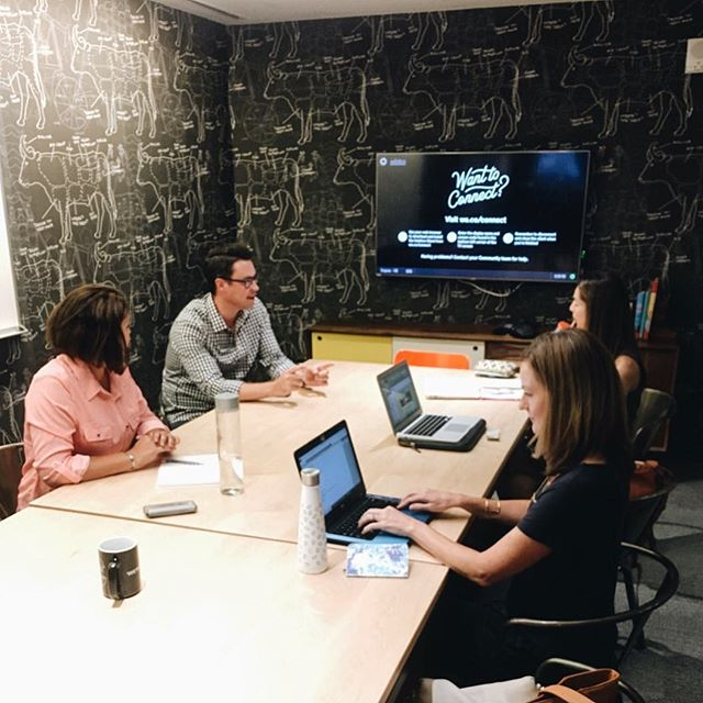 We started off this week strong with our first all-team meeting in Austin, TX📍Planning + dreaming up big things from our temporary space as construction on the new office starts this week 🏠😱 Stay tuned! #theholliscompany