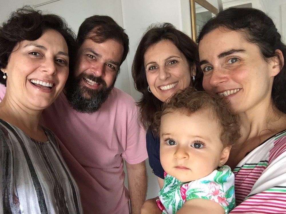 Eu, Sidney, Ana, Mari e Sophia