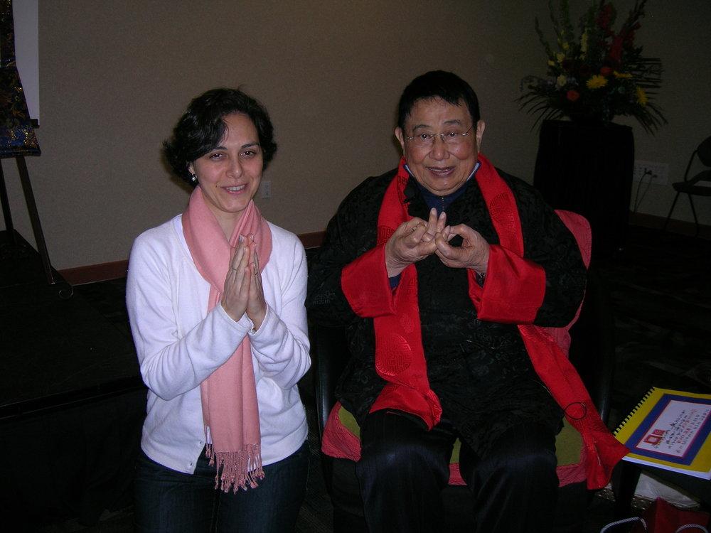 Eu e o Prof. Lin Yun, no Seminario de Feng Shui, em Calgary, Canadá. Foi a primeira vez que participei de um seminário internacional, em 2009.