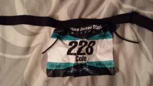 """When we had the option for vanity bibs, I got really excited. But apparently """"Cole"""" in size 8 font isn't big enough for spectators!"""