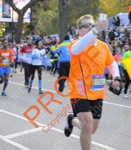 Another runner's bib, and taking a selfie. A harsh sentence awaits you.