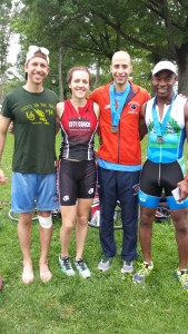 "I recruited three people from the Central Park Track Club to do this race this year. We now go by ""Central Park Tri Club."""