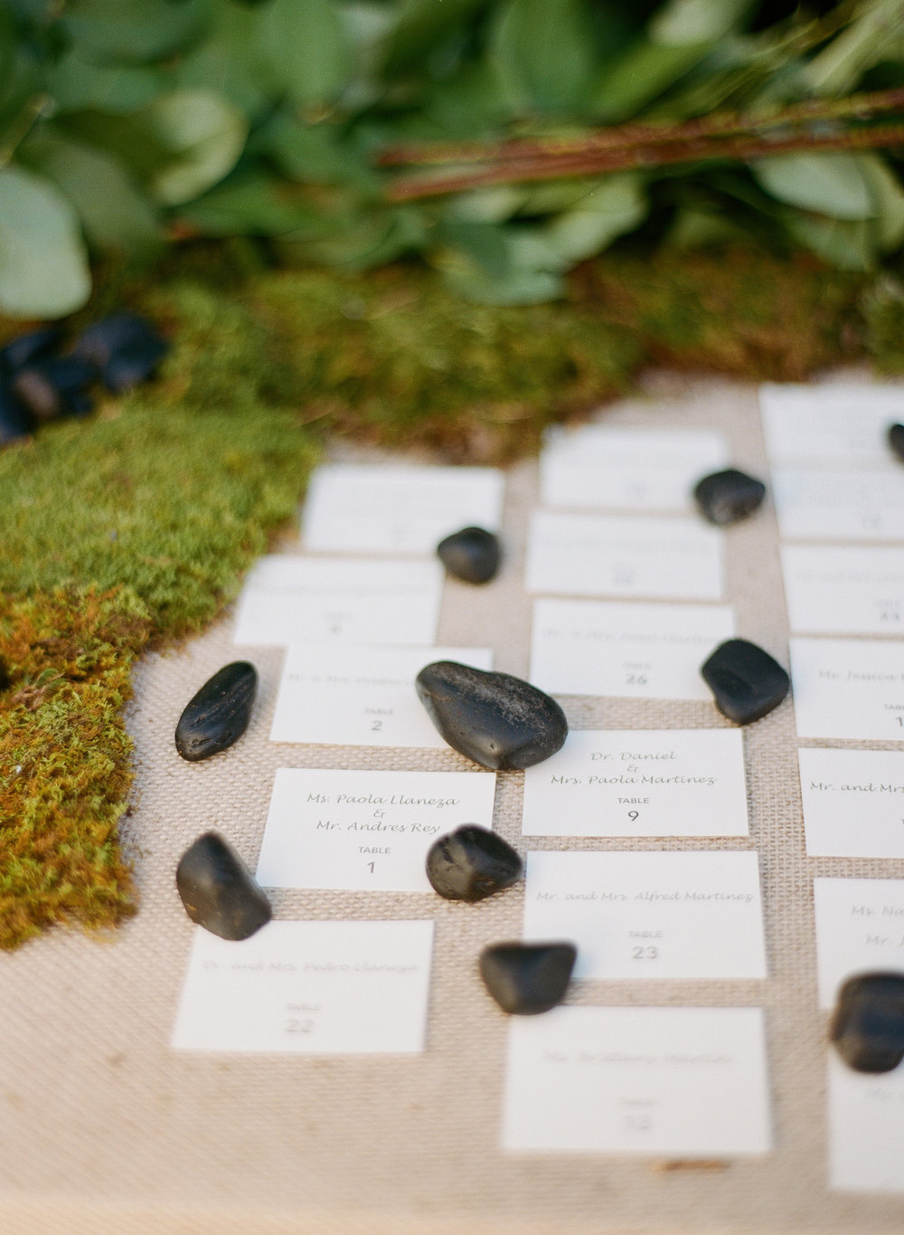 Moss Place Cards