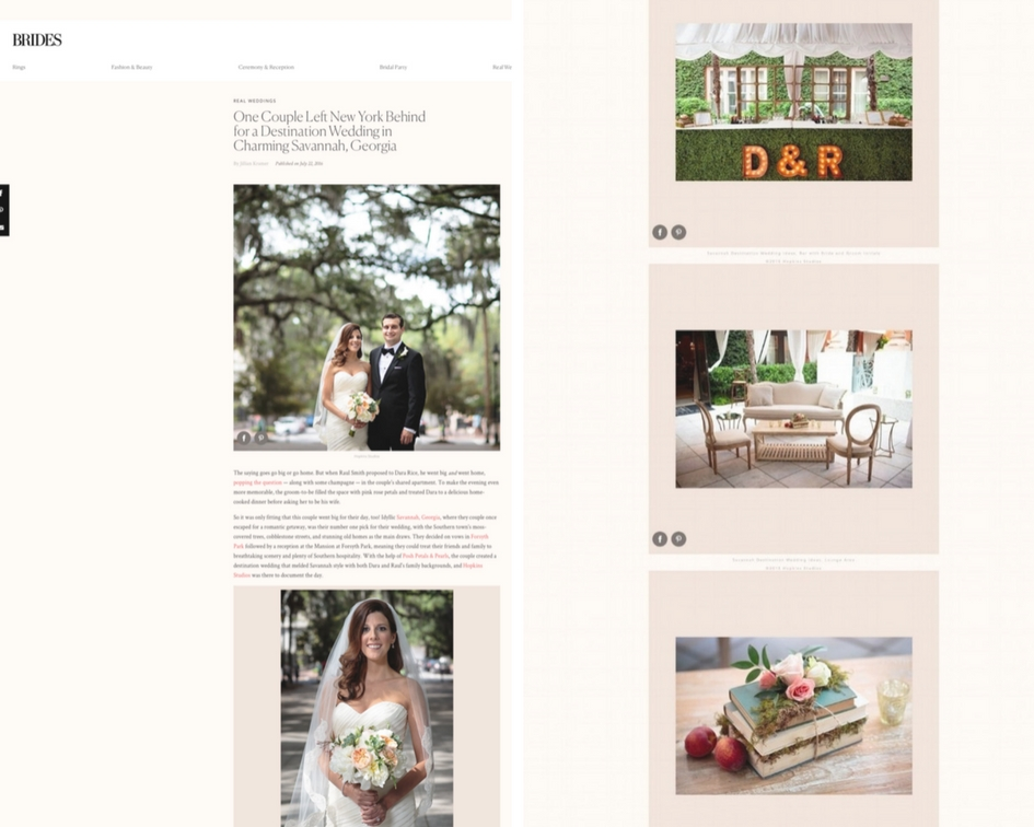Brides.com - One Couple Left New York Behind for a Destination Wedding in Charming Savannah, GeorgiaReal Weddings Feature