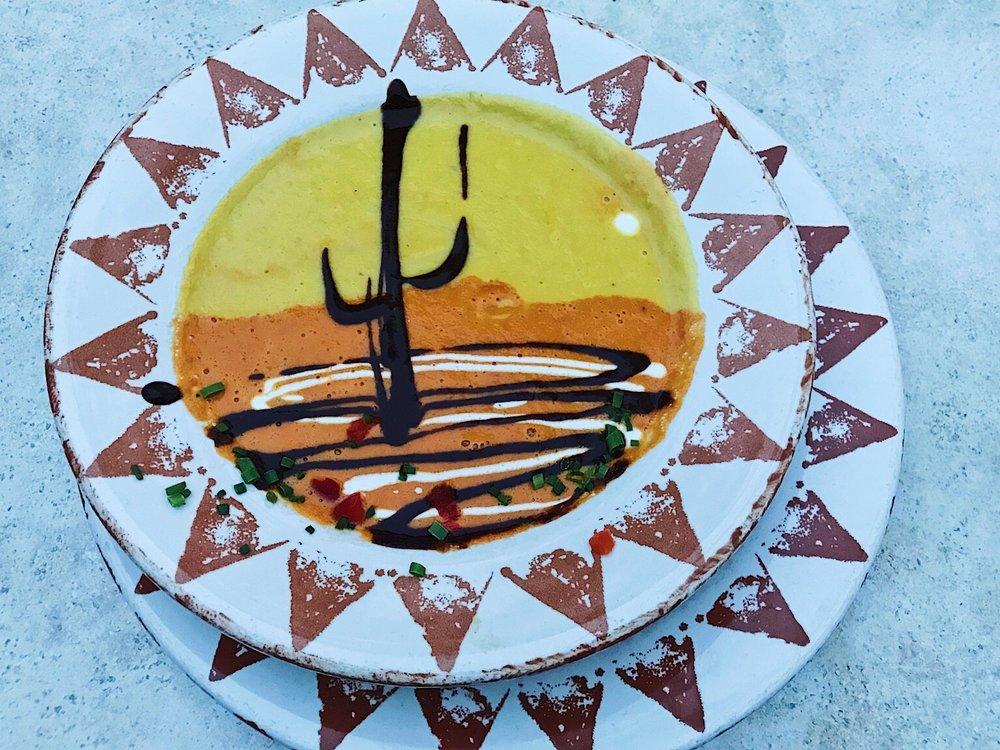Painted Desert Soup at Santa Fe Cafe