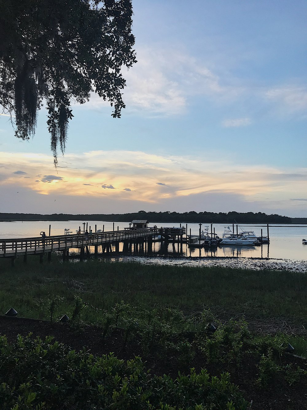 Sunset view from Skull Creek Boathouse