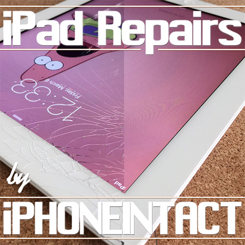 Before-and-after-iPhoneIntact-iPad-broken-glass-screen-replacement