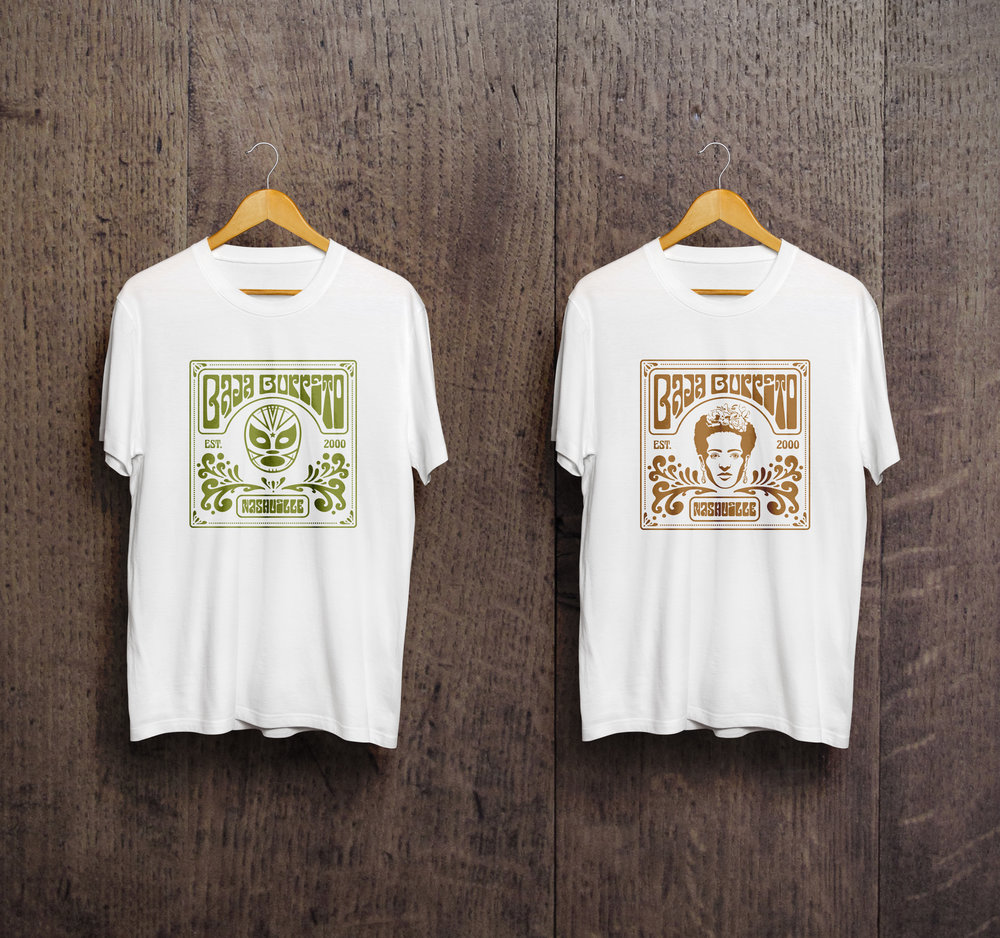 Baja Burrito T-shirt Design