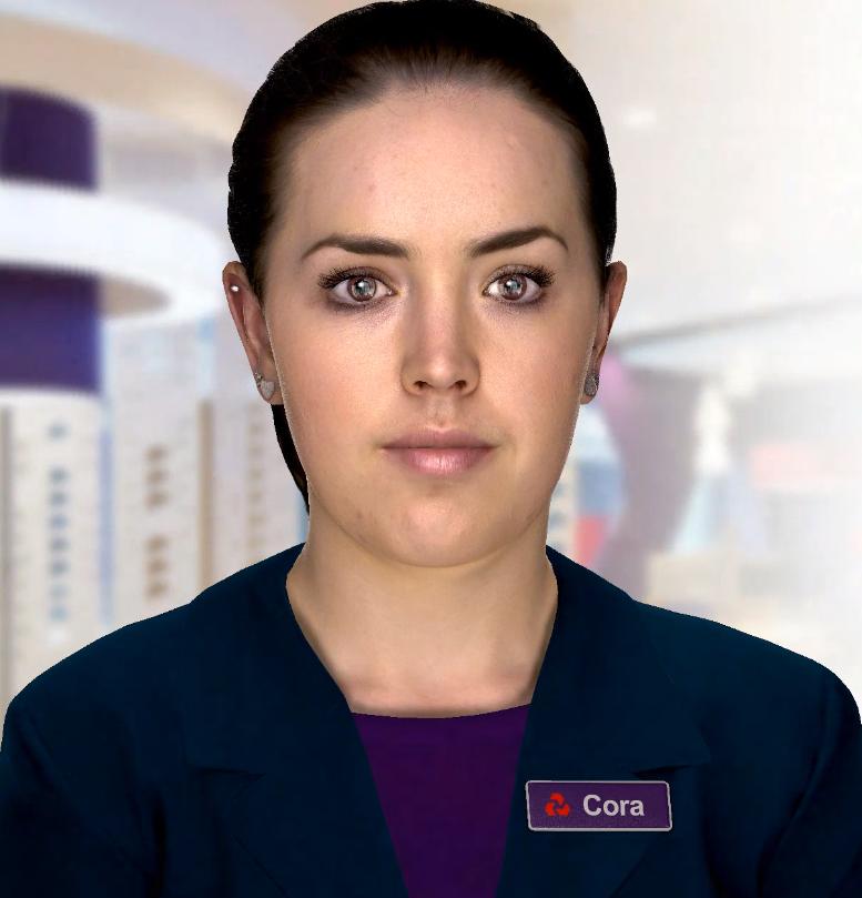 Cora - digital human for Natwest bank UK.
