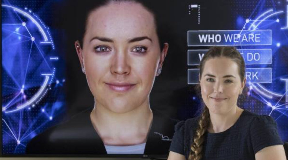 Soul Machines employee Rachel Love is one of only eight people in the world who have a virtual version of themselves.      Photo : Peter Meecham /Stuff