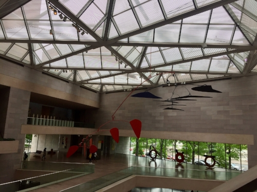 Alexander Calder  - mobile installation, National Gallery of Art (East Building).