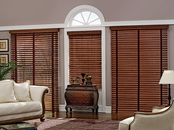 Shutter Style Wood Blinds with Cloth Tape