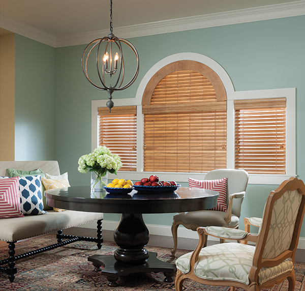 Wood Blinds with Specialty Arch