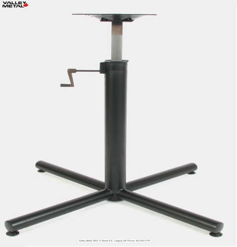 Commercial height adjustable table base by Valley Metal -