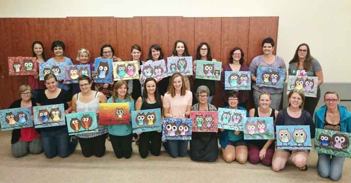 owl painting workshop