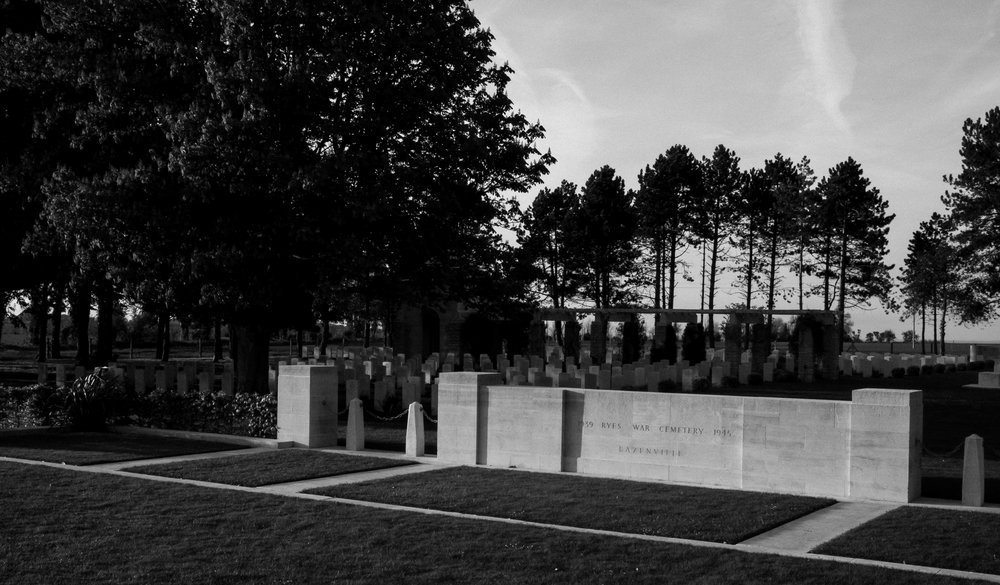 Along a narrow road, in the middle of farmland in Bazenville, France, stands an impeccably maintained cemetery of British troops who died during World War II.